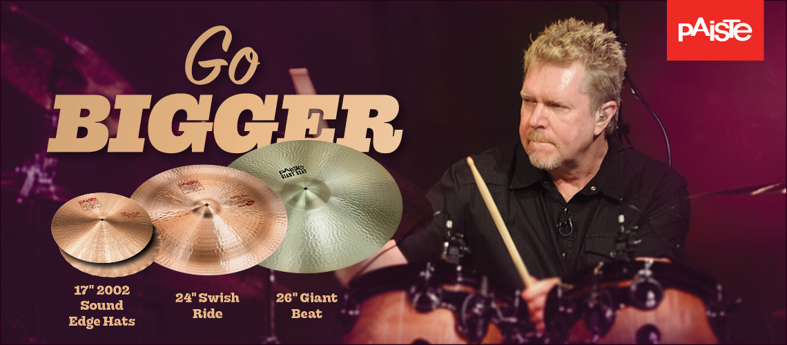 Paiste - Go Bigger - 17″ 2002 Sound Edge Hats - 24″ Swish Ride - 26″ Giant Beat